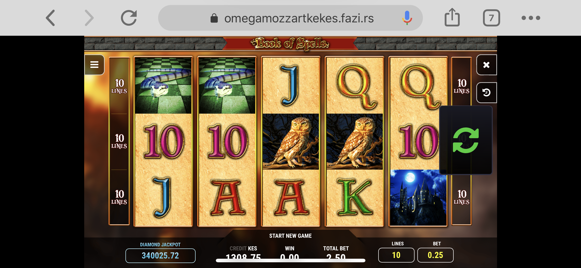 Mozzart Casino games fazi