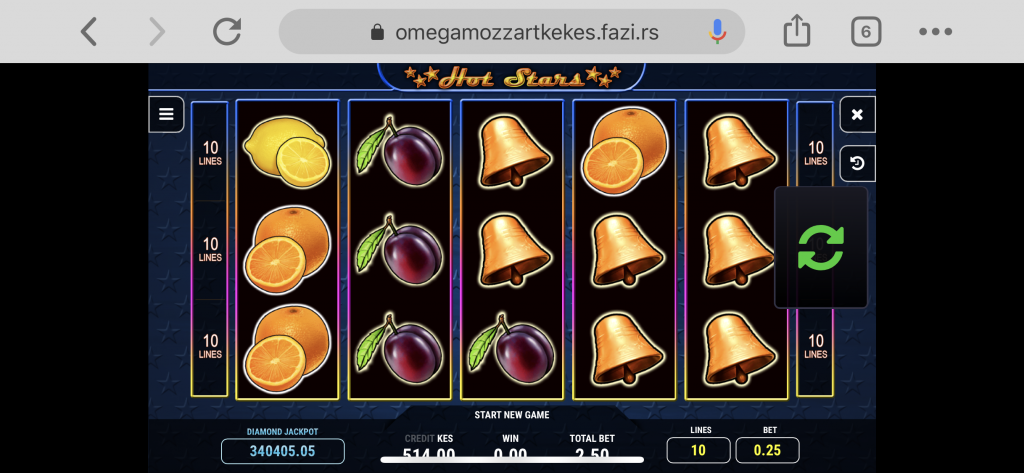 Mozzart bet casino game in play